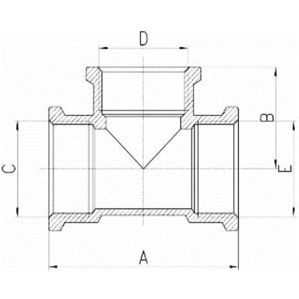 t st ck messing 1 1 2 zoll ig. Black Bedroom Furniture Sets. Home Design Ideas
